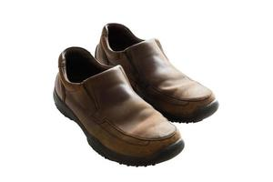 chaussures homme en cuir marron photo