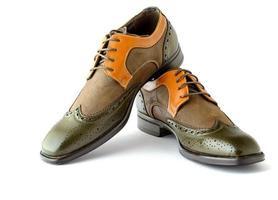 chaussures habillées de style spectateur pour hommes isolés photo