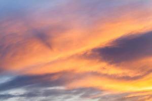 fond de ciel coucher de soleil. photo