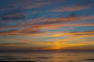 coucher de soleil sur la baltique