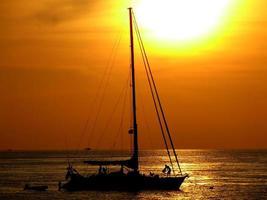 coucher de soleil en Thaïlande photo