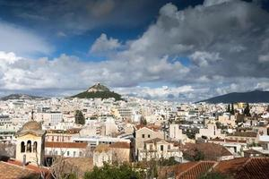 vue sur la ville d'Athènes photo
