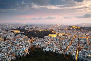 Athènes de la colline du lycabette.