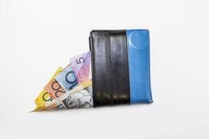 l'argent dans le portefeuille photo