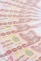billets de banque thaïlandais photo