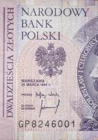 vingt zloty polonais photo