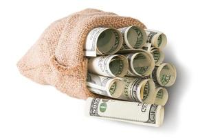 l'argent dans le sac