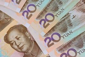 Billets en yuan chinois (renminbi) pour l'argent et les affaires conce photo