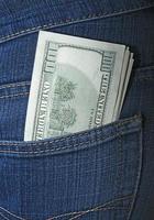 de l'argent dans une poche photo