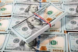 nous billets de cent dollars photo