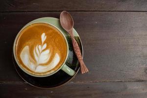 café latte art avec grain de café