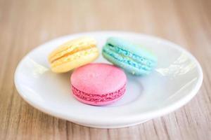 macarons colorés photo