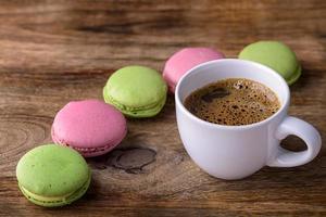 café et macaron photo