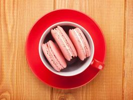 biscuits macaron rose photo