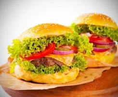 gros hamburgers photo