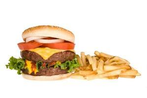 hamburger et frites photo