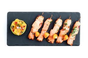yakitori au saumon photo
