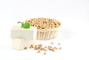 tofu et fèves de soja photo