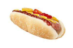 délicieux sandwich au hot dog photo