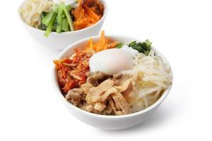 plat de riz coréen / bibimbap photo