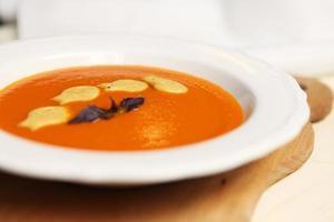 soupe à la crème saine à la citrouille photo