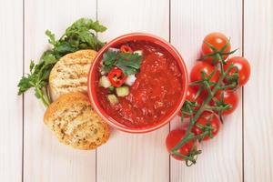 soupe de gaspacho photo