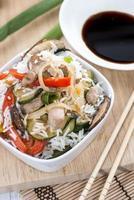 riz aux légumes mélangés photo