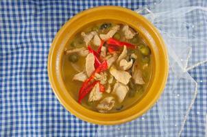 curry de porc vert, cuisine thaïlandaise
