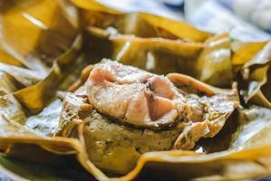 crème de curry de poisson cuit à la vapeur photo
