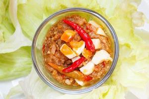 trempette à la sauce chili tamarin.