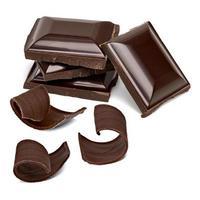 tablettes de chocolat avec des boucles photo