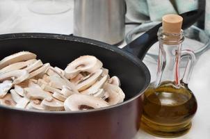 la cuisson des champignons