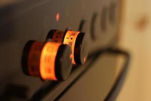 bouton de four de cuisson photo
