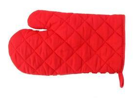 gant de cuisine rouge photo