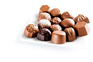 pralines au chocolat sucré de luxe photo