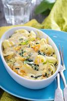 macaronis au four et fromage à la citrouille photo