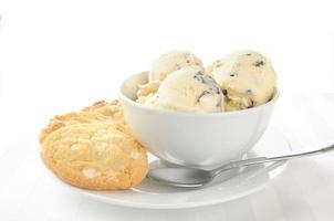 crème glacée et biscuits photo