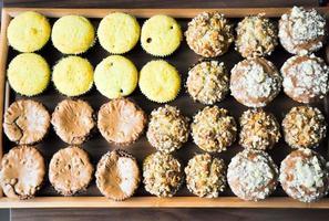 gros plan de recette de muffins