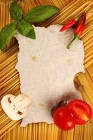 page de recette vierge photo