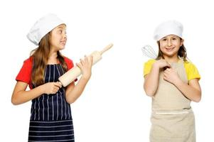 fille chef cuisinier photo