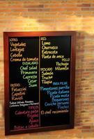 tableau de menu. photo