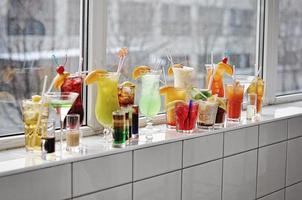 ensemble de cocktails photo