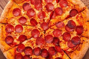 délicieuse pizza fraîche