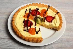 tarte aux fruits avec crème pâtissière
