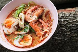 tom yum kung thai food spice and yummy
