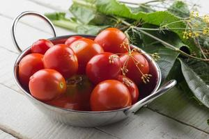 tomates marinées photo