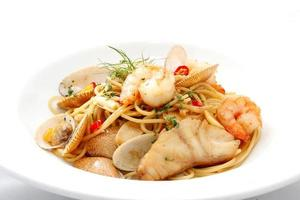 fruits de mer spaghetti photo