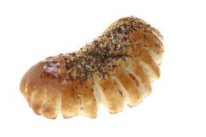 Produit de boulangerie photographié sur isolé sur fond blanc photo