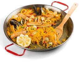 paella, à moitié mangée