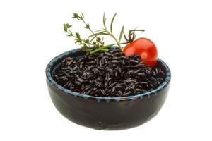 riz bouilli noir photo